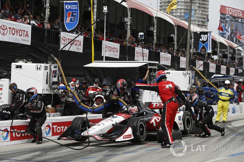 Graham Rahal, Rahal Letterman Lanigan Racing Honda, au stand