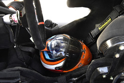 Kaz Grala, JGL Racing, Ford Mustang NETTTS helmet in his seat
