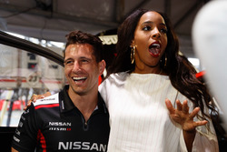 Former Destiny's Child singer Kelly Rowland chats with Michael Caruso, Nissan Motorsports