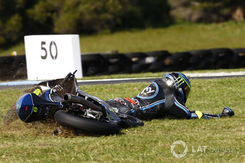 10. Nicolo Bulega, Sky Racing Team VR46 crash
