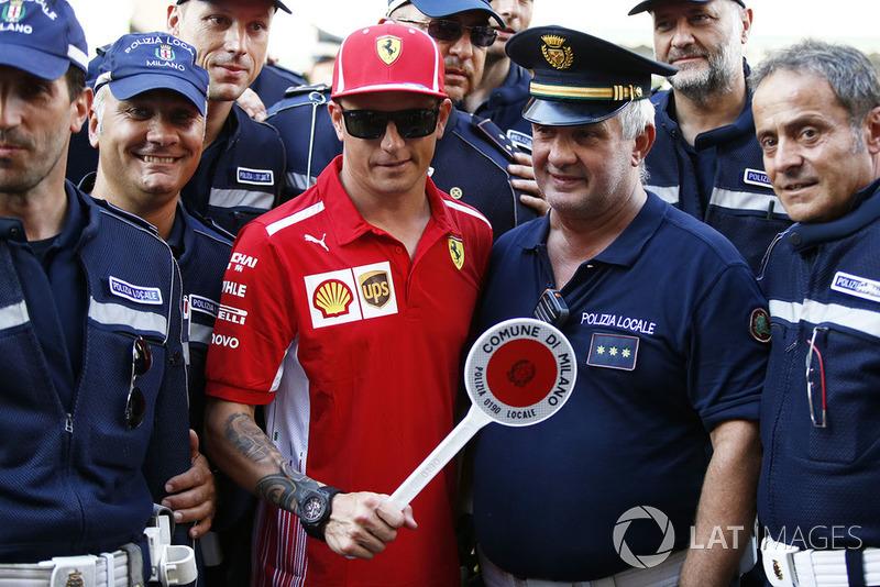 Kimi Raikkonen, Ferrari and Police
