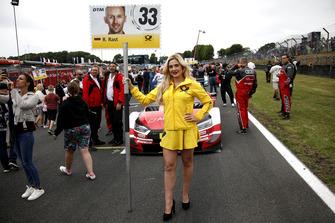 La grid girl di René Rast, Audi Sport Team Rosberg