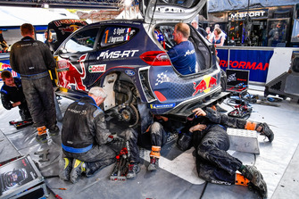 The car of Sébastien Ogier, Julien Ingrassia, M-Sport Ford WRT Ford Fiesta WRC
