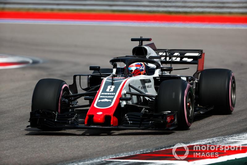 9: Romain Grosjean, Haas F1 Team VF-18, 1'33.704