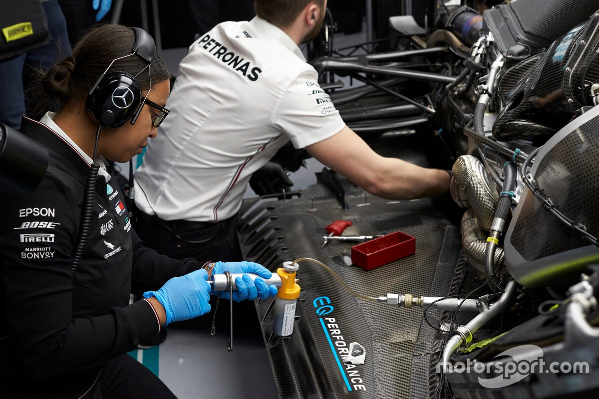Stephanie Travers, Petronas trackside fluid engineer