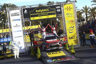Ganadores Sébastien Loeb, Daniel Elena, Citroën World Rally Team Citroën C3 WRC