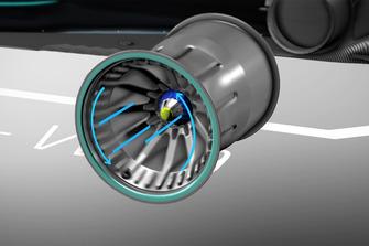 Mercedes F1 AMG W09 rim animation