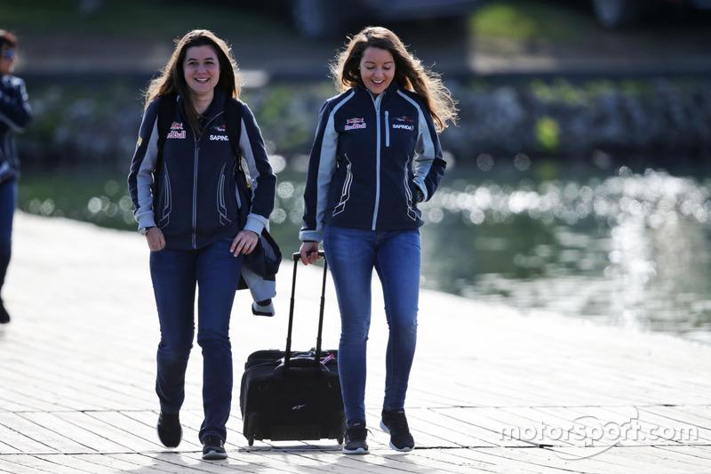 Tabatha Valles, Scuderia Toro Rosso Press Officer (Left)