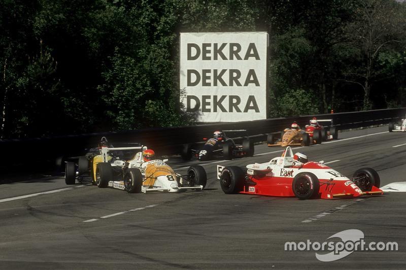 Michael Schumacher in der Deutschen Formel 3 auf der Avus 1990