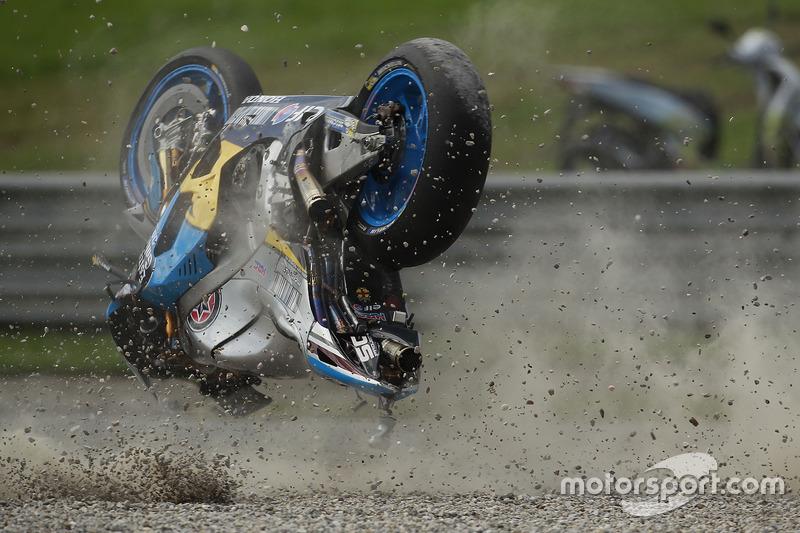 Unfall: Jack Miller, Marc VDS Racing, Honda