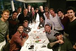 Nico Rosberg, Fernando Alonso, Daniel Ricciardo, Nico Hulkenberg, Valtteri Bottas, Max Verstappen, Daniil Kvyat, Esteban Gutierrez, Esteban Ocon, Marcus Ericsson, Felipe Nasr, Pascal Wehrlein, Felipe Massa, Sebastian Vettel, Jenson Button, Carlos Sainz Jr.