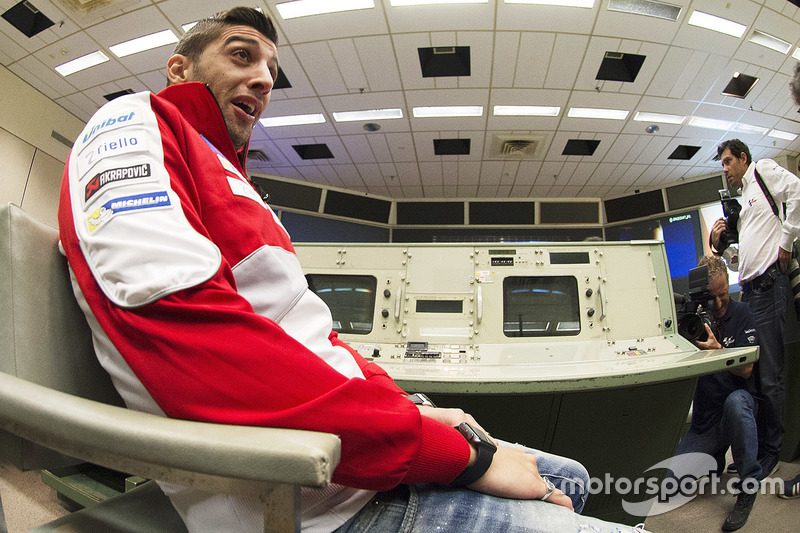 Andrea Iannone, Ducati Team during a visit to the NASA Johnson Space Center