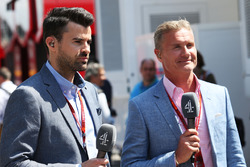Steve Jones, canal 4 presentador de F1 David Coulthard, Red Bull Racing y Scuderia Toro asesor / can