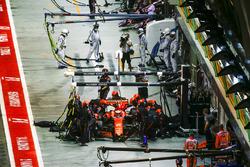 Stoffel Vandoorne, McLaren MCL32, ai box