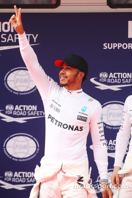 Pole man Lewis Hamilton, Mercedes AMG