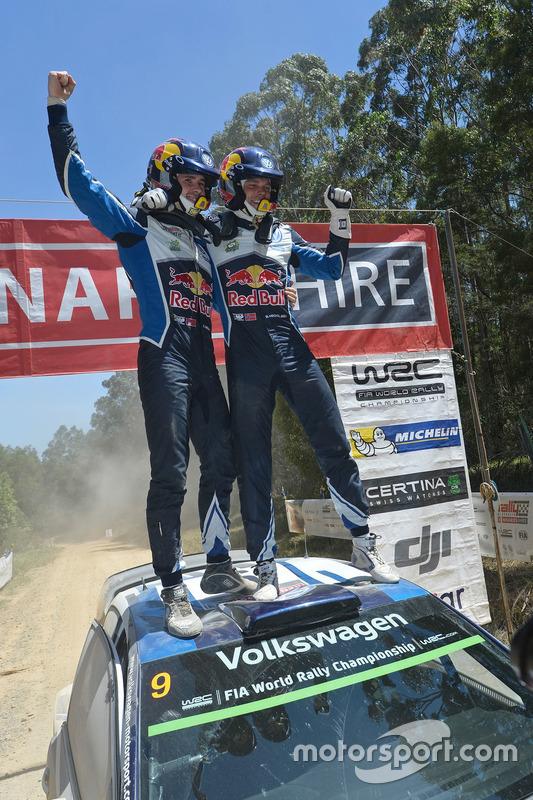 Les vainqueurs Andreas Mikkelsen, Anders Jäger, Volkswagen Polo WRC, Volkswagen Motorsport