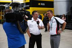 Zak Brown, Executive Director, McLaren Technology Group, talks to Craig Slater of Sky