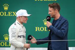 Valtteri Bottas, Mercedes AMG F1 and Jenson Button, McLaren on the podium