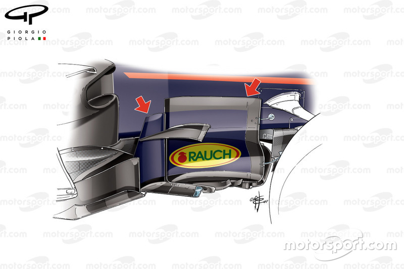 Red Bull RB13: Windabweiser, GP Aserbaidschaen