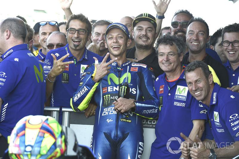 Tercer lugar Valentino Rossi, Yamaha Factory Racing