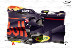 Red Bull Racing RB13, Ausschnitt