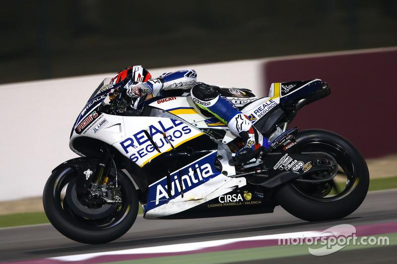 Loris Baz con la Ducati Desmosedici GP15 de 2015 del Avintia Racing