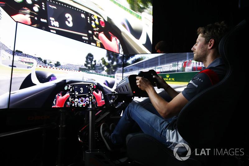 Ромен Грожан, Haas F1 Team, на симуляторі