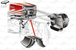 Ferrari F138 pull rod suspension
