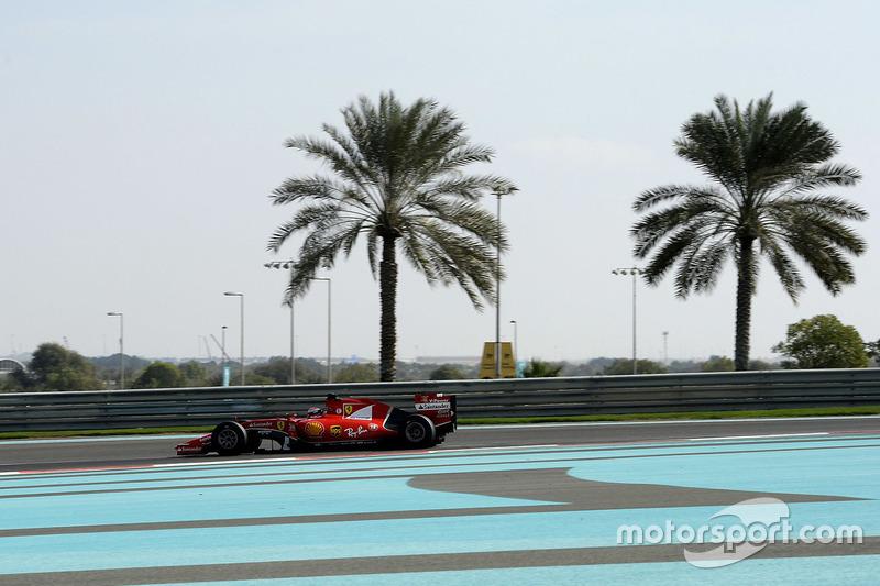 Kimi Raikkonen, Ferrari con las nuevas Pirelli 2017