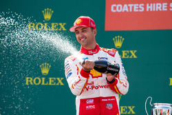 Podium: second place Fabian Coulthard, Team Penske Ford