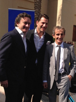 Alejandro Agag, Marco Parroni e Alain Prost