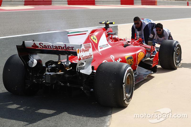 Auto de Kimi Raikkonen, Ferrari después de los problemas