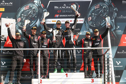 Podium: race winners Christian Engelhart, Mirko Bortolotti, GRT Grasser Racing Team, second place St