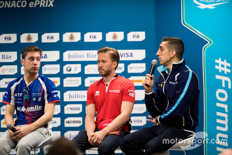 Press Conference: Robin Frijns, Amlin Andretti Formula E Team, Nick Heidfeld, Mahindra Racing, Séb