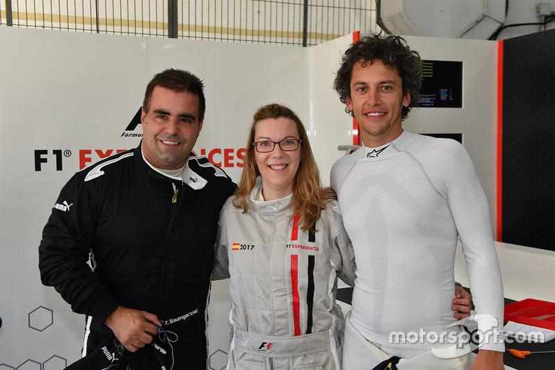 F1 Experiences 2-Seater passenger, Zsolt Baumgartner, F1 Experiences 2-Seater driver and Patrick Friesacher, F1 Experiences 2-Seater driver