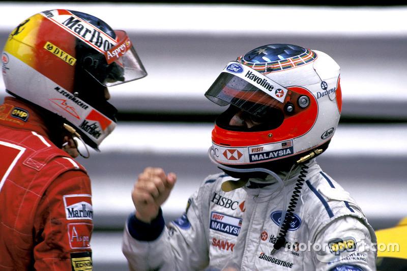 Michael Schumacher, Ferrari y Rubens Barrichello, Stewart Ford