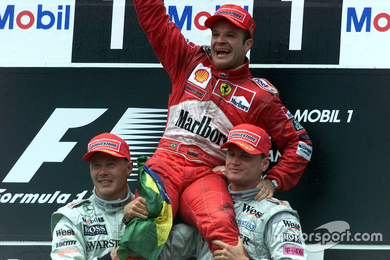 2000: 1. Rubens Barrichello, 2. Mika Hakkinen, 3. David Coulthard