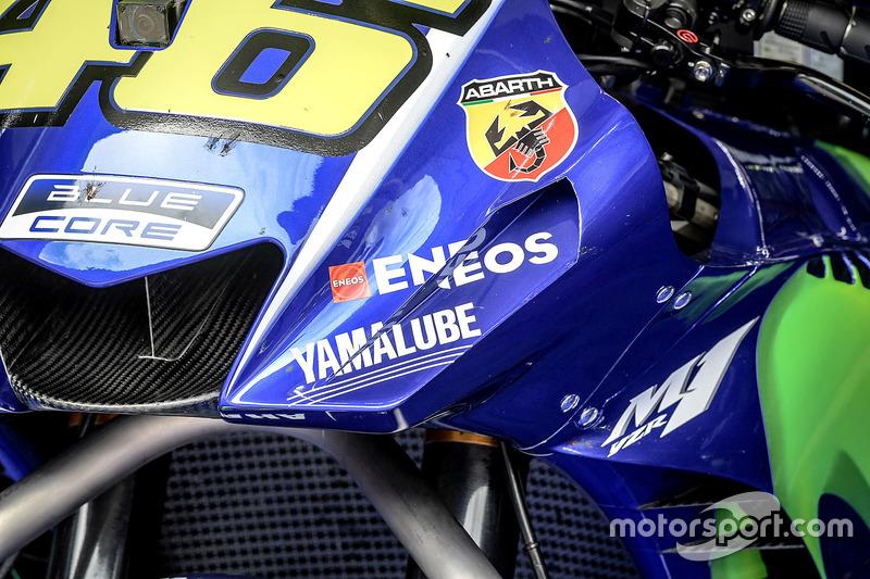 Valentino Rossi'nin motosikletinin detayları, Yamaha Factory Racing