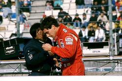 Ayrton Senna, McLaren, Osamu Goto, Honda Racing Team Leader