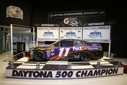 The car of Denny Hamlin, Joe Gibbs Racing Toyota