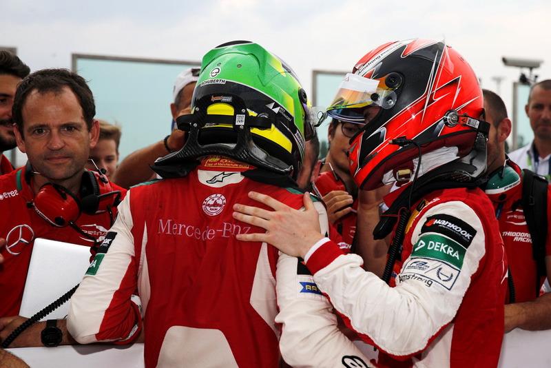 Le vainqueur Mick Schumacher, PREMA Theodore Racing Dallara F317 - Mercedes-Benz et Marcus Armstrong, PREMA Theodore Racing Dallara F317 - Mercedes-Benz