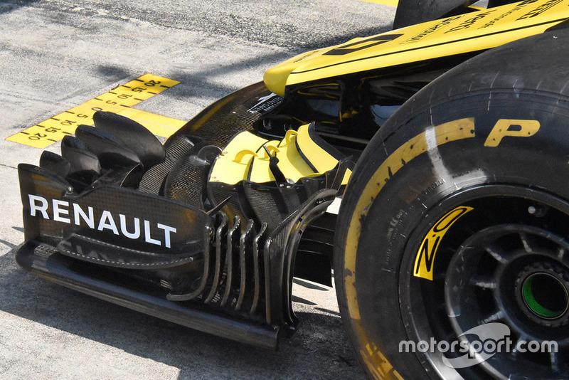 Renault F1 detalle de ala delantera