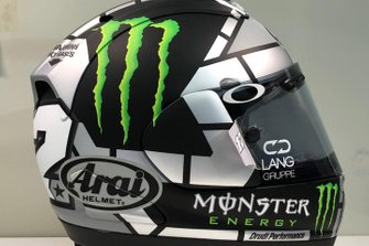 Le casque de Maverick Vinales, Yamaha Factory Racing