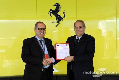 Ferrari AEO certificate announcement