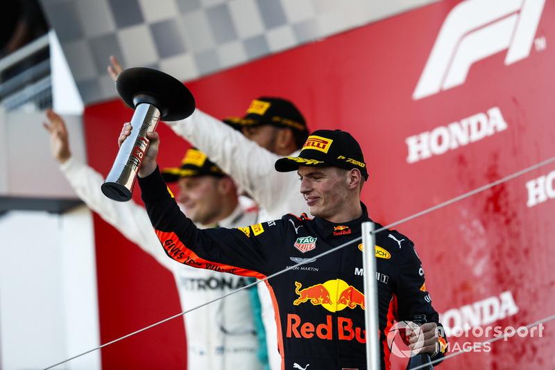 El tercero Max Verstappen, Red Bull Racing