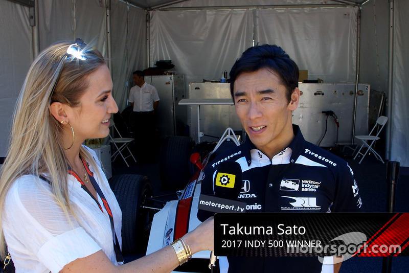 Takuma Sato, Honda avec Julia Piquet
