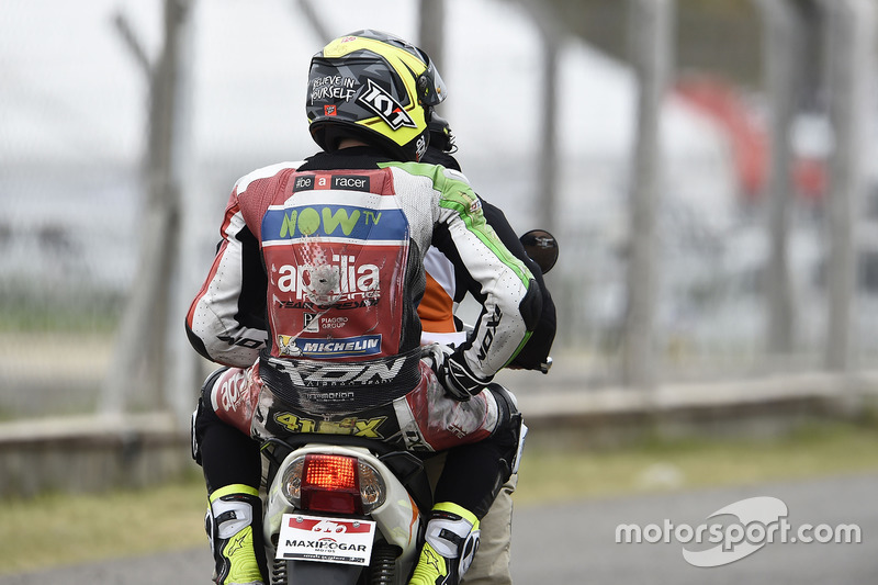Aleix Espargaro, 14 kali kecelakaan
