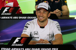 Jenson Button, McLaren in the FIA Press Conference
