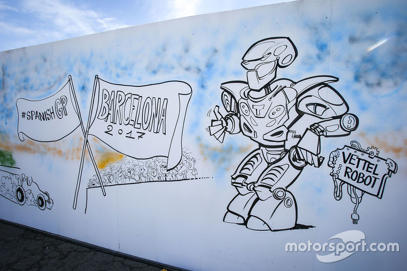Gran Premio de España: una caricatura sobre Vettel.