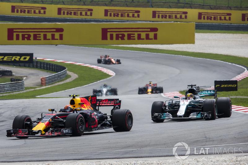 Макс Ферстаппен, Red Bull Racing RB13, Льюіс Хемілтон, Mercedes-Benz F1 W08